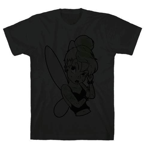 Punk Tinkerbell Mens T-Shirt