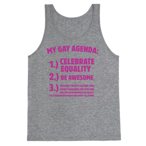 My Gay Agenda Tank Top