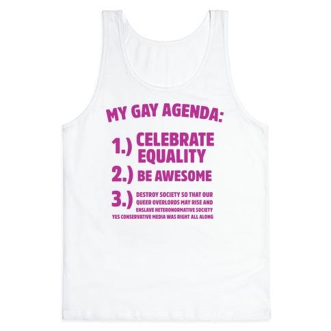 My Gay Agenda Tank Top