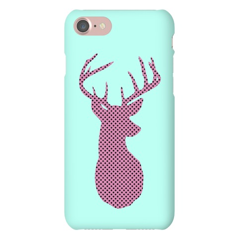 Polka Dot Deer Silhouette Phone Case