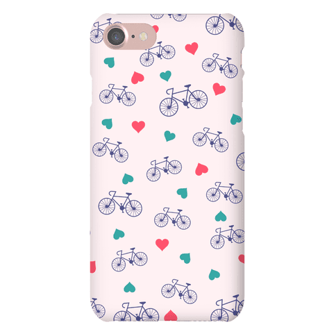 Bikes and Heart Pattern Phone Case