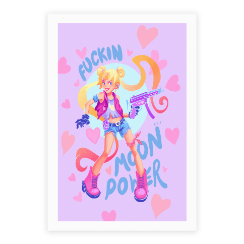 F***in Moon Power Poster