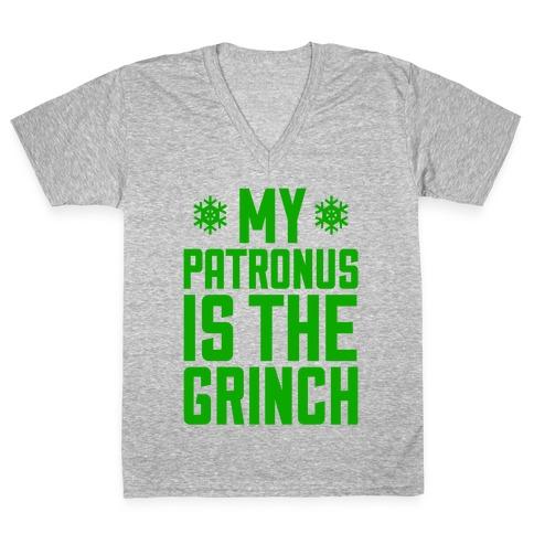 My Patronus Is The Grinch V-Neck Tee Shirt
