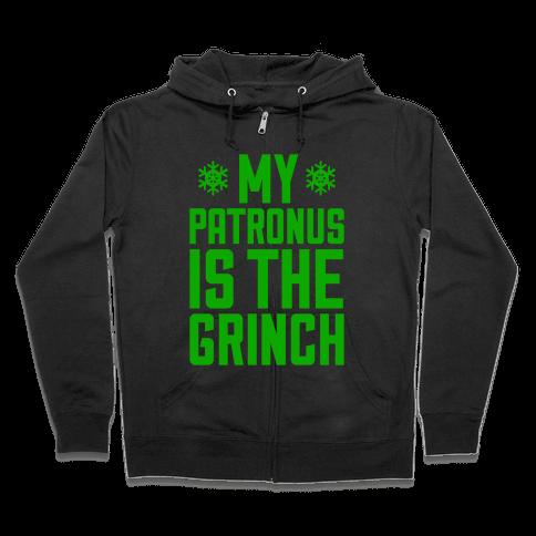 My Patronus Is The Grinch Zip Hoodie