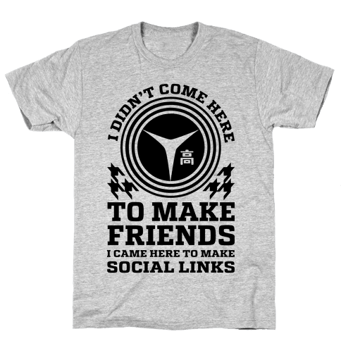 I Came Here To Make Social Links Mens T-Shirt