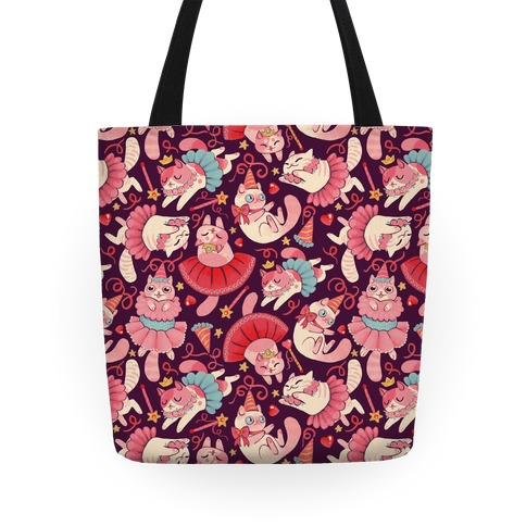 Cute Princess Cat Pattern Tote