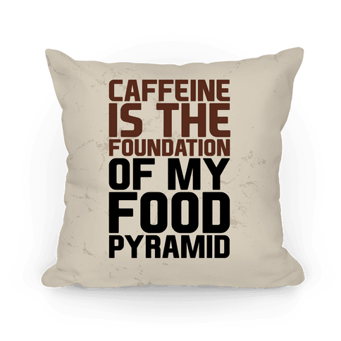 Caffeine Foundation Throw Pillow | LookHUMAN