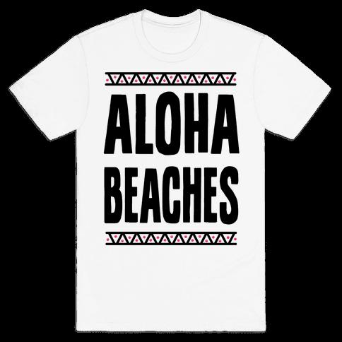 Aloha Beaches Mens T-Shirt