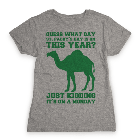 Guess What Day St. Paddys Day Is Womens T-Shirt