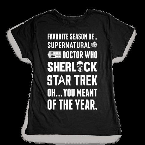 Favorite Fandom Season Womens T-Shirt