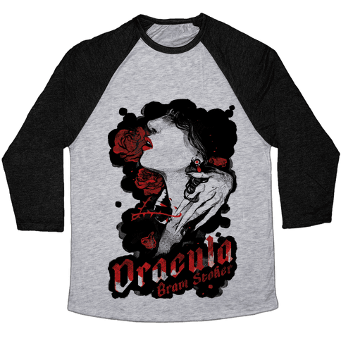 Dracula Book Cover Baseball Tee