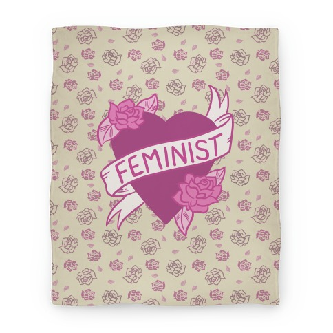 Feminist Heart Blanket
