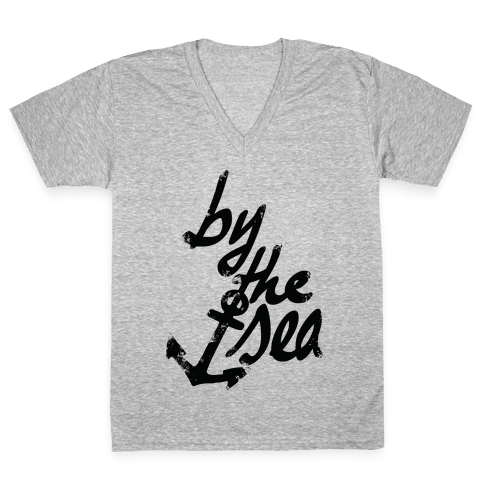 By The Sea V-Neck Tee Shirt