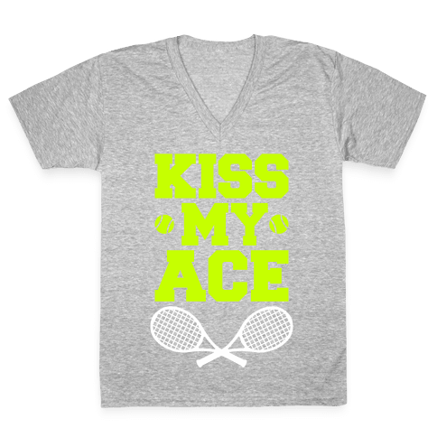 Kiss My Ace V-Neck Tee Shirt