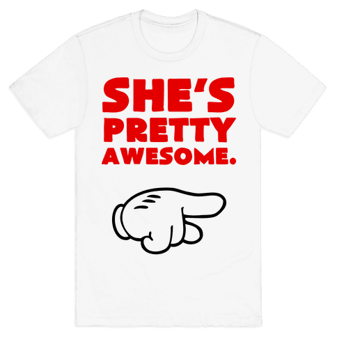 She's Awesome (Right) Mens T-Shirt