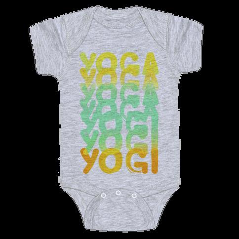 Yoga Into A Yogi Baby Onesy