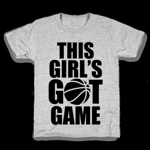 This Girl's Got Game (Basketball) Kids T-Shirt