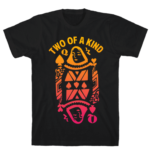Two of a Kind Spade Mens T-Shirt
