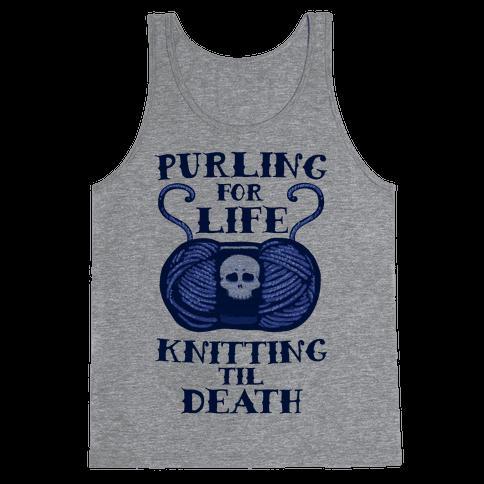 Knitting til Death Tank Top