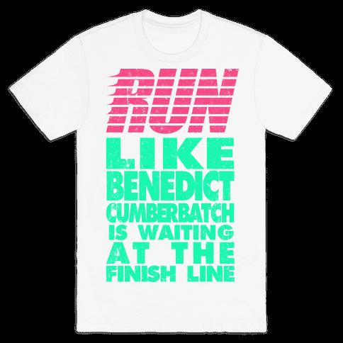 Run Like Benedict Cumberbatch Mens T-Shirt