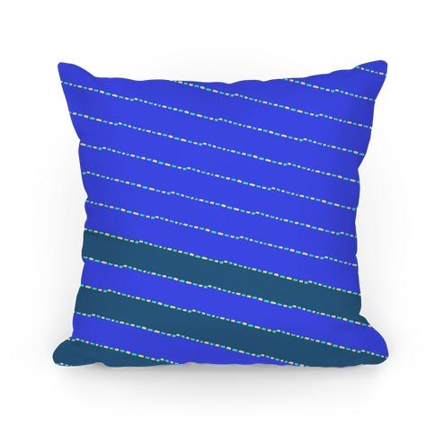 Blue Diagonal Dashed Stripes Pattern