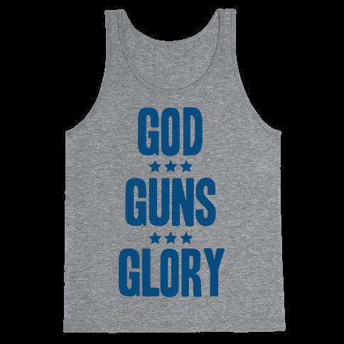 GOD GUNS GLORY Tank Top