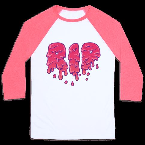 RIP Pink Slime Baseball Tee
