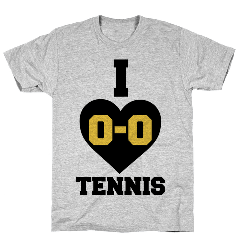 I 0-0 Tennis Mens T-Shirt