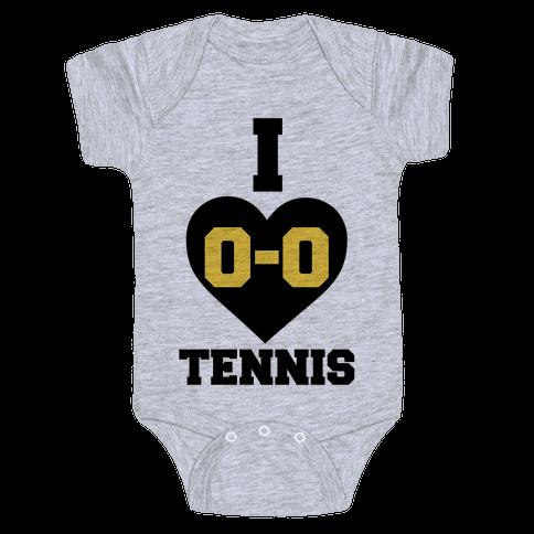 I 0-0 Tennis Baby Onesy