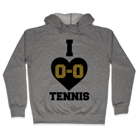 I 0-0 Tennis Hooded Sweatshirt