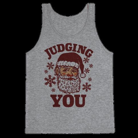 Judging You Santa Tank Top
