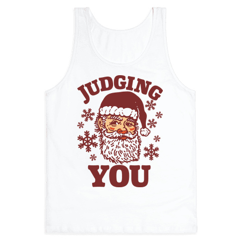 Judging You Santa Tank Top