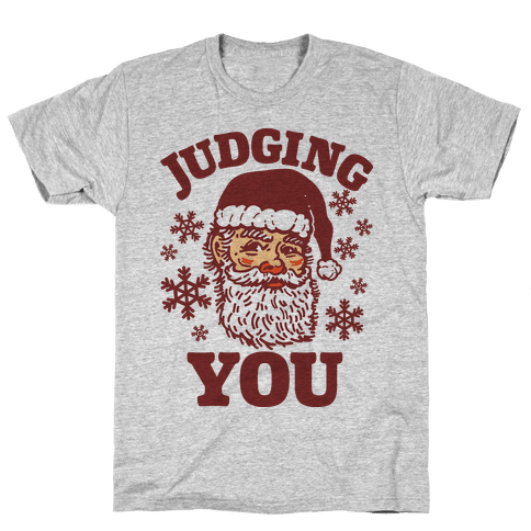 Judging You Santa Mens T-Shirt