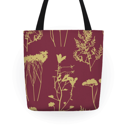 Mauve and Wild Flowers Tote