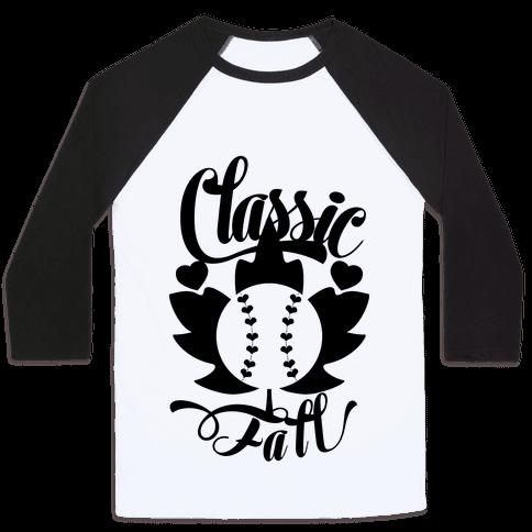 Classic Fall (Baseball World Series) Baseball Tee