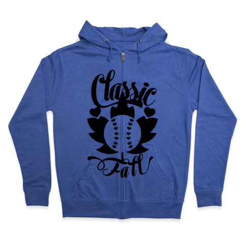 Classic Fall (Baseball World Series) Zip Hoodie