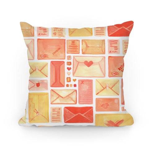 Love Letter Pattern Pillow