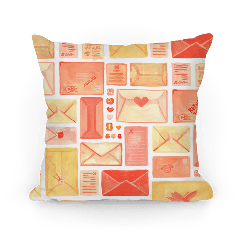 Love Letter Pattern Pillow
