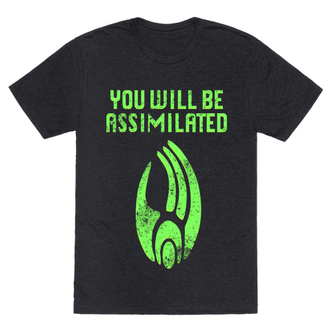Borg - You Will Be Assimilated Mens T-Shirt