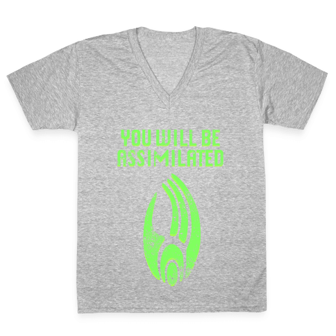Borg - You Will Be Assimilated V-Neck Tee Shirt