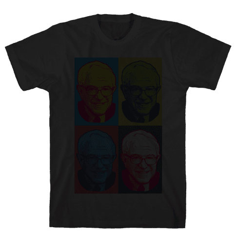 Pop Art Bernie Sanders Mens T-Shirt