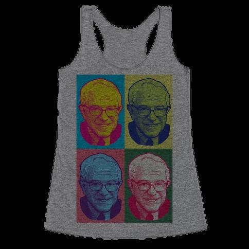 Pop Art Bernie Sanders Racerback Tank Top