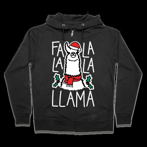 Falalala Llama Zip Hoodie