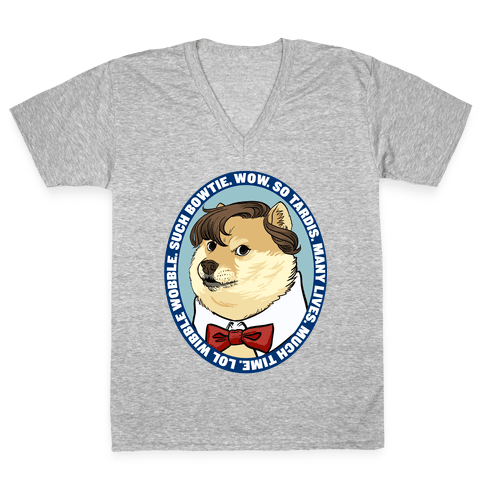 The Doctor Doge V-Neck Tee Shirt
