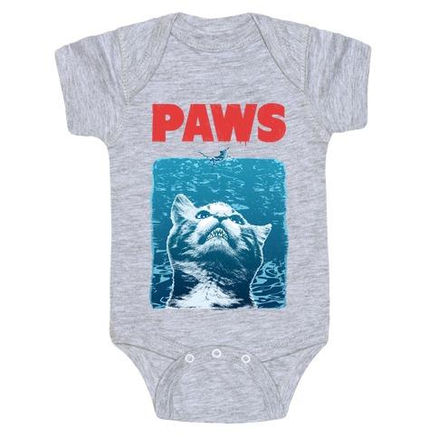 PAWS (Jaws Parody tee) Baby One-Piece