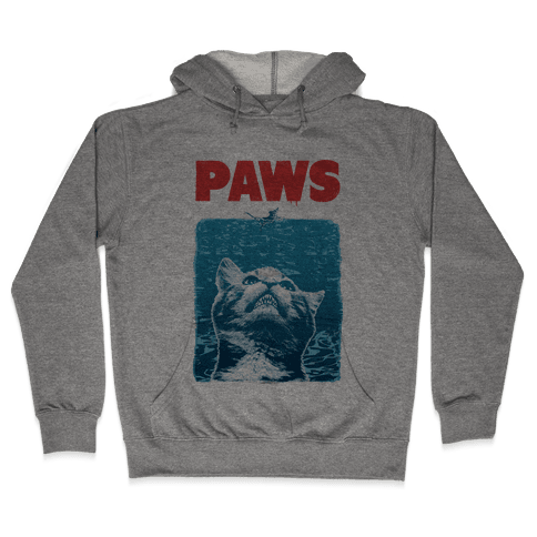 PAWS (Jaws Parody tee) Hooded Sweatshirt