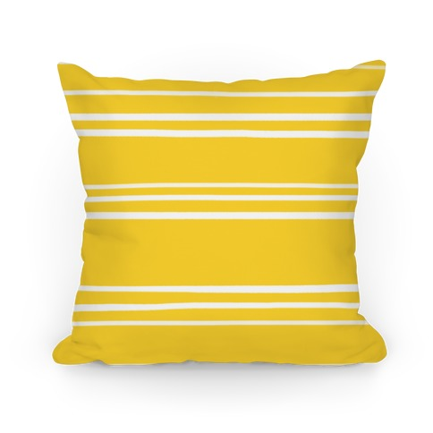 Yellow Stripe Pattern Pillow