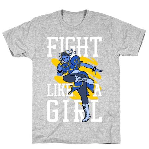 Fight Like a Girl Chun Li Parody T-Shirt