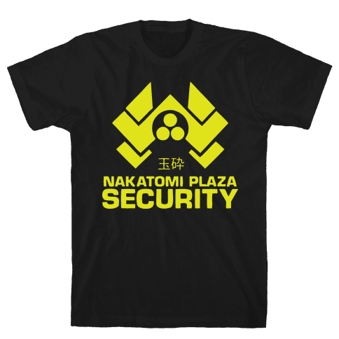Nakatomi Plaza Security Mens T-Shirt