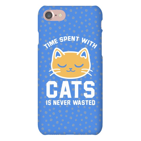 Time Spent With Cats Phone Case